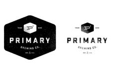 Nice emblem logo for brewing company.  Very simple and clean.