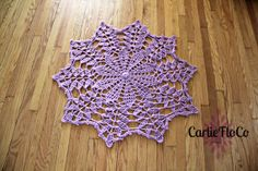 Doily Rug Lace Crochet Purple Orchid Lavender by CarlieFloCo, $65.00