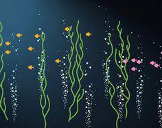 Underwater Decal Ocean Wall Decal Bubble by GetCreativeStudios