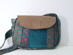 Small Upcycled Necktie Purse w/ a Green Pattern by TiffmanHandbags, $28.00