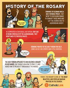 The History of the Rosary #catholic #rosary