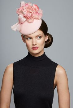 Juliette Botterill Millinery | Rose and Bow Mini | Pink and Berets | LOVEHATS.COM