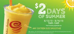 2 more days for $2 days of summer at #jambajuice