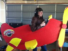 Luke with plane Sharon made for Amazing Wonders Aviation - VBS 2012