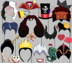 Villain Party Photo Booth Props Princess Queen por IraJoJoBowtique