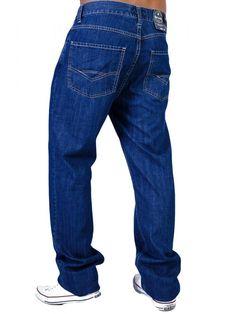 c3da5eff2b29 RED ROCK Oversize Κλασικό ψηλόμεσο τζιν παντελόνι