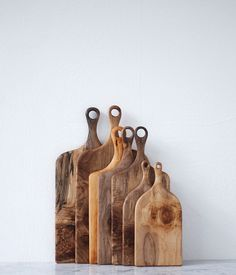 Wood Cutting Boards w/wholes for hanging