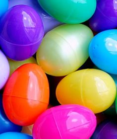 You could put in pom-poms, buttons, pennies, etc.....The kids love to open up eggs and see whats inside. Great for learning, counting, colors, etc.. Have the kids make matches or count how many objects are in the egg.