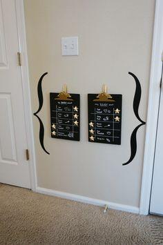 DIY Magnetic Chalkboard Clipboards