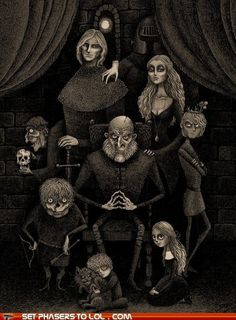 The Lannisters as the Addams Family