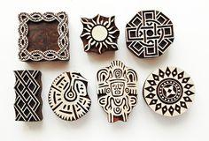 Aztecs assorted block prints