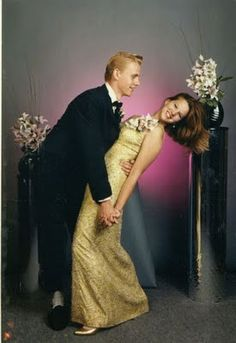 I whip my hair back and forth! (via deroucicho: Funny 90s Prom Pictures)