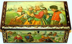 Dutch Children Traditional Costume Biscuit Tin 1920s | eBay