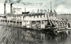 Divided Back Postcard The John L. Site History, Steam Boats, Paddle Boat, Southern Illinois, Ohio River, File Image, Water Crafts, Egypt, Past