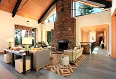 Contemporary custom mountain property in Martis Camp