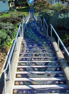 Next time you travel to San Francisco make sure you check out the 16th Ave Tiled Steps.