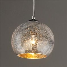 Mini Crackled Mercury Bowl Pendant Light - All For Decoration Mercury Glass Pendant Light, Glass Pendant Shades, Mini Pendant Lights, Glass Pendants, Glass Light Shades, Pendant Lamps, Chandelier Shades, Interior Exterior, Home Interior