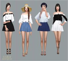 My Sims 4 Blog: Dresses, Tops and Skirts for Females by Marigold