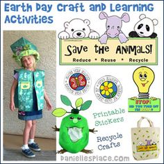 Earth Day Crafts and Activities from www.daniellesplace.com