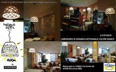 progetto e fornitura per il ristorante IL CIGNO in viale  Emilia a RICCIONE