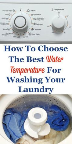 Explanation of when and why you should choose hot, warm or cold water to wash various types of clothes and other laundry, so you can choose the best water temperature for your laundry. #ad