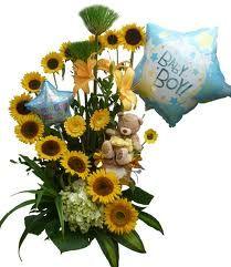 Hermosos girasoles para celebrar al nuevo bebe