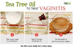 use tea tree oil to treat vaginitis