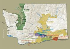 Wine Maps: Walla Walla Washington