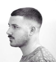 100 Best fade haircuts for 2019 – Rod Anker Salons Best Fade Haircuts, Round Face Haircuts, Haircuts For Men, Buzz Cut For Men, Buzz Cuts, Corte Fade, Short Hair Cuts, Short Hair Styles, Moustache