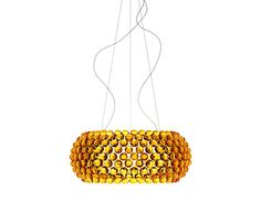 Caboche suspension big LED yellow-gold by Foscarini | Architonic