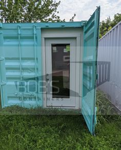 used shipping container on marketplace at Bob's Containers. Shipping Container Prices, Shipping Container Storage, Metal Storage Containers, Storage Container Homes, Building A Container Home, Container House Design, Container Store, Pre Built Cabins, Kitchen Cabinets On A Budget