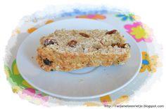 Ingrediënten:     250 gram zelfrijzend bakmeel   250 gram havermout   (50 gram suiker)   naar eigen smaak rozijnen, noten, gedroogd f...