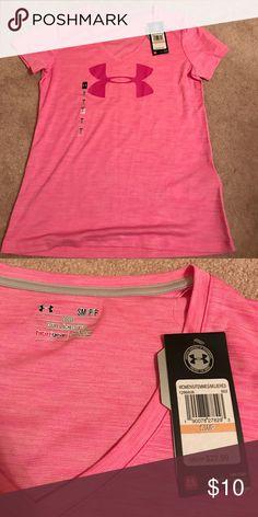 Under armour t shirt! Pink under armour logo t shirt Under Armour Tops Tees - Short Sleeve