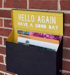 message inside mailbox lid