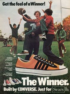 1975 Converse The Winner Low Cut High Top Shoes Sears Football Ad   eBay