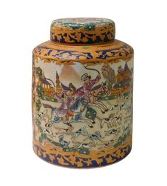 Chinese Decorative Porcelain Box on Chairish.com