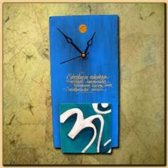 Wooden Om #clock to decorate your home wall shop from #craftshopsindia