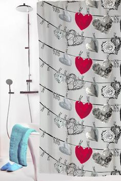 Vallila Interior AW14, Hehku shower curtain grey by Lauri Tähkä Heartdesign