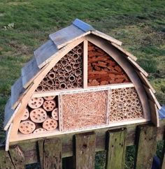 This funky insect house has a range of habitats for different insects. From tubes for solitary bees to lay their eggs in, and warm, cosy nooks and crannies for hibernating ladybirds and lacewings, this Insect House has it all.The slatted roof uses treated timber for longevity, but all other timber is untreated to keep any chemicals away from the wildlife.This Insect House would be a great way to introduce kids to nature. It would be ideal in a school garden or green space.Comes with two…