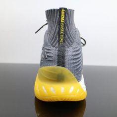 big sale 837cf 8ad2a Adidas Crazy Explosive Boost 2017 Primeknit Grey Yellow CQ1396 3