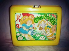 VTG 1983 Cabbage Patch Kids THERMOS Lunch Box  & Water Canteen, missing cup  USA #LunchBox
