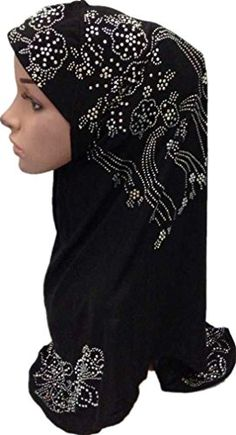 Women's One Piece Easy to Wear Islamic Muslim Hijab Veil Scarf (black). 14 colors; click brand name 'Plato's Love' to find other 13 colors. One piece, Easy to Wear. One size; About size: Customer Reviews: The size is one size fits all; Fits perfectly;Yes it's a one piece. It's super convenient because it's long enought to where I don't have to pull back my hair to put it on. It covers my shoulders a little bit, my medium length hair, and chest. I absolutely love it!. Material: Cotton Blend…