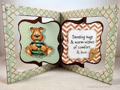 So cute! Accordion Album and Frame & Label, Bracket dies - Sue's Stamping Stuff: Recovering Benton