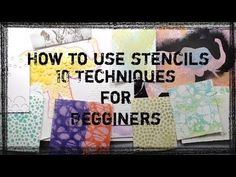 How To - Crafty Hack: 3 New Ways to use a stencil with HNDMD by Hedgehog Hollow - YouTube
