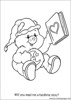 Care Bears get well soon | Bear coloring pages, Coloring ...