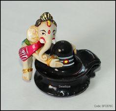 Resin Ganesha and Shiva statue for home decoration buy online at #craftshopsindia