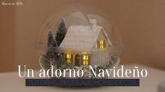 Scrapbooking Tutorial: Adorno Navideño (Home decor) Little Houses, Ideas Para, Snow Globes, Easter, Scrapbook, Projects, Christmas, Youtube, Home Decor