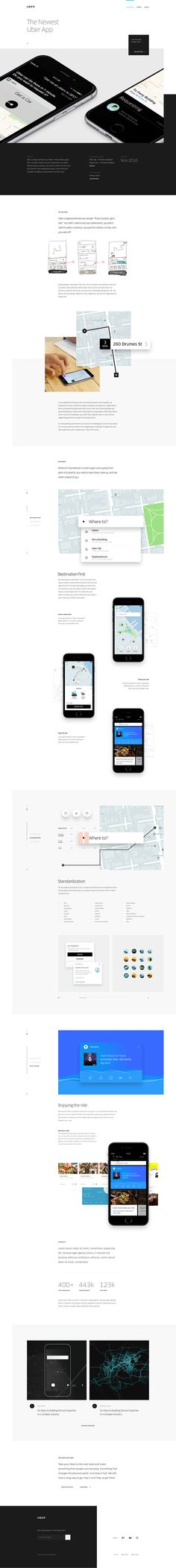 UBER design case study and UI design concept by UENO.