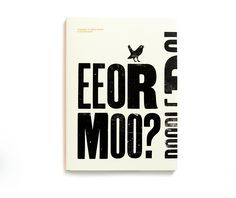 Eeormoo? | Bold Block Typography for Limited Edition Book | Award-winning Typography for Design | D&AD