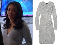 "Who: Candice Patton as Iris West What: Wilfred Free Klum Dress - Sold Out Where: The Flash 1x14 ""Fallout"""